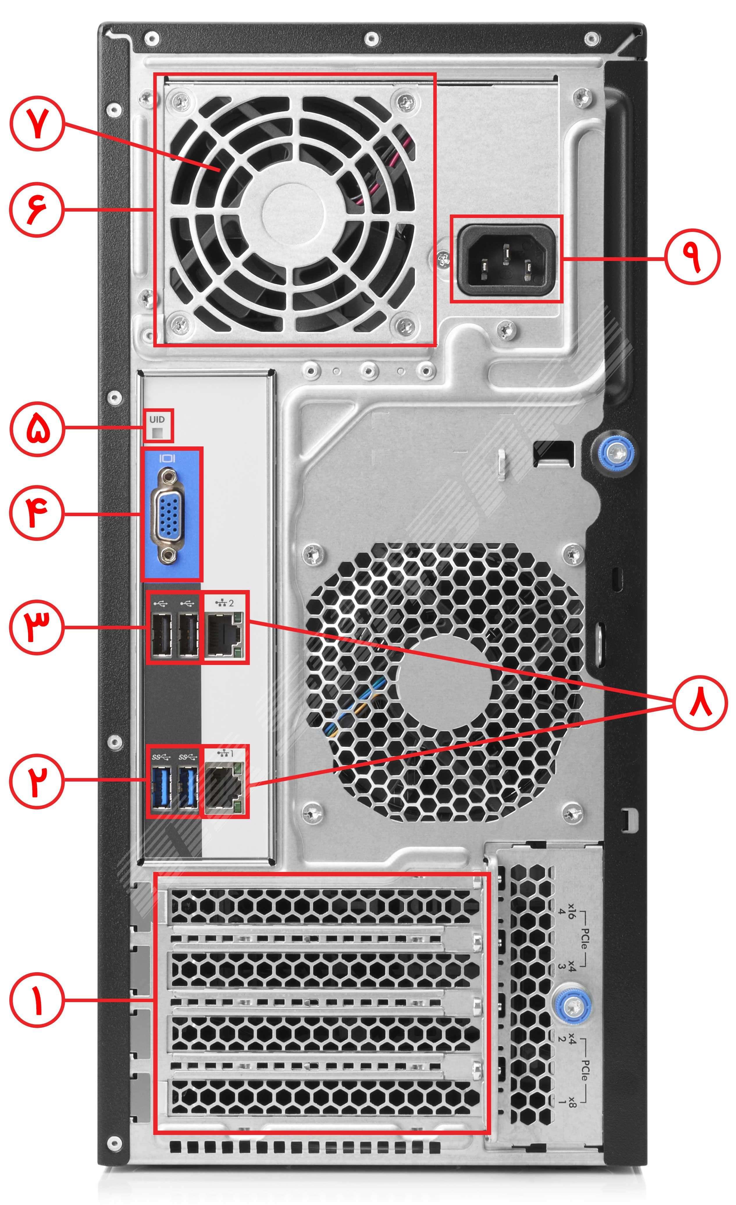 سرور اچ پی مدل ML30 Gen9